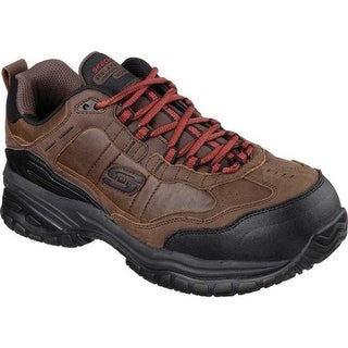 Skechers Men's Work Relaxed Fit Soft Stride Constructor II ST Dark Brown
