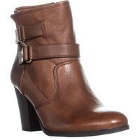 bar III Jaimie Block Heel Ankle Boots, Banana Bread