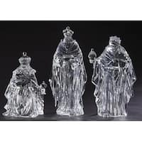 """3-Piece Icy Crystal 3 Kings Christmas Nativity Figures 15"""" - CLEAR"""