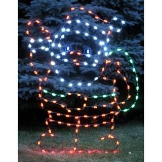 Christmas at Winterland WL-GM112-LED LED Light Waving Santa
