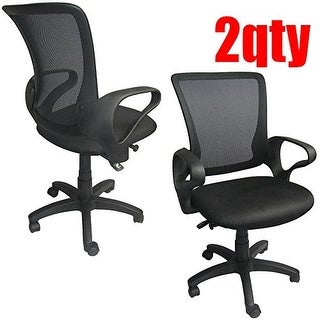2xhome Set Of Two (2) - Mesh Classic Ergonomic design Executive Computer Office Desk Task Chair With Swivel & Adjustable Seat