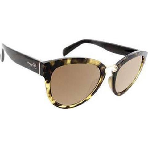 0a35f5e5cb43e Peppers Capri Sunglasses Blonde Tortoise Brown Polarized Gold Flash - US  One Size (