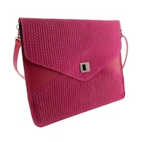 HS1154 FU FULVIA Fuchsia Leather Clutch/Shoulder Bag - 15-10-1