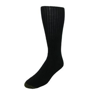 Gold Toe Men's Cotton Ultra Tec Over the Calf Socks (Pack of 3), Shoe Size 6 - 12 1/2, White (Option: Black)
