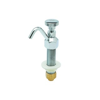 T and S Brass B-2282  Dipperwell Deck Mounted Faucet with Chrome Plated Knob