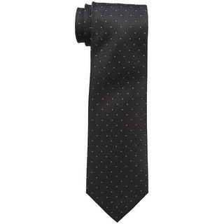 Calvin Klein NEW Black Woven Polka Dot Men's Neck Tie Silk Accessory
