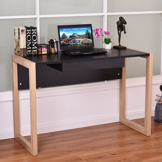 Costway Computer Desk Wood PC Laptop Table Writing Workstation Home Office  W/Drawer   As