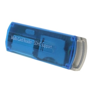 Unique Bargains USB 2.0 T-Flash MMC Mini SD SDHC Card Reader Writer Blue