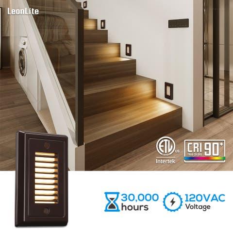 120V Dimmable LED Step Light 3000K Warm White Oil Rubbed Bronze - 6PACK