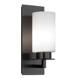 """Norwell Lighting 9670 Jade 1-Light 14"""" Tall Wall Sconce with White Glass Shade - n/a"""