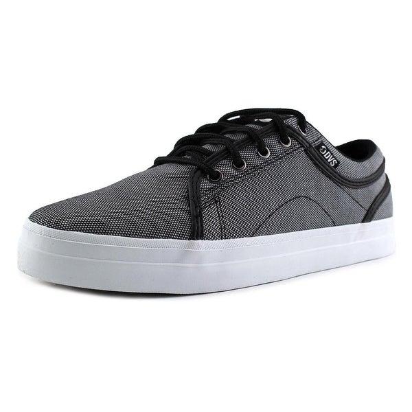DVS Aversa Men Black Chambray Skateboarding Shoes