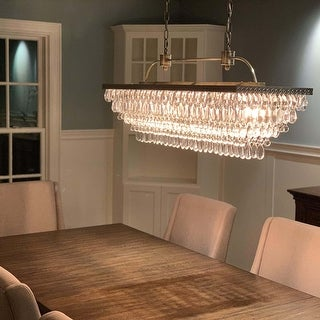 Link to The Weston 40 Inch Rectangular Glass Drop Chandelier Similar Items in As Is