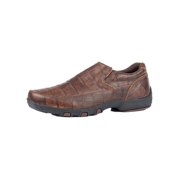 Roper Western Shoes Mens Owen Leather Brown