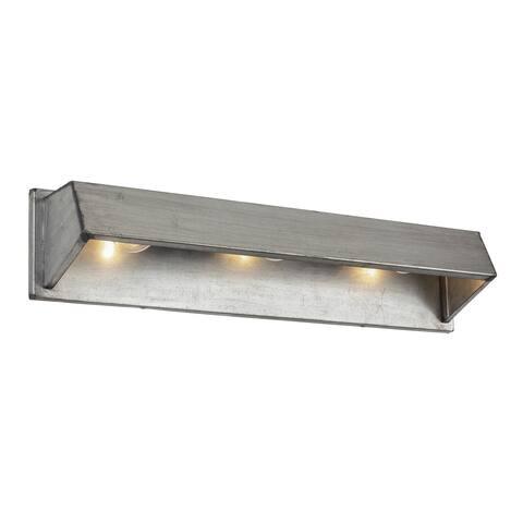 Varaluz Galvanic 3-light Ombre Galvanzied Bath/Wall Light