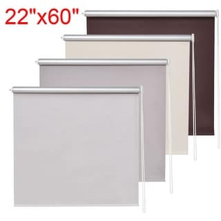 Costway 22''x60'' Roller Full Blinds Sunscreen Blackout Sun Shade Curtain Window 4 Color