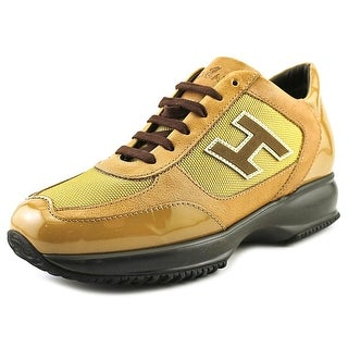 Hogan New Interactive Donna H Flock Women Leather Gold Fashion Sneakers