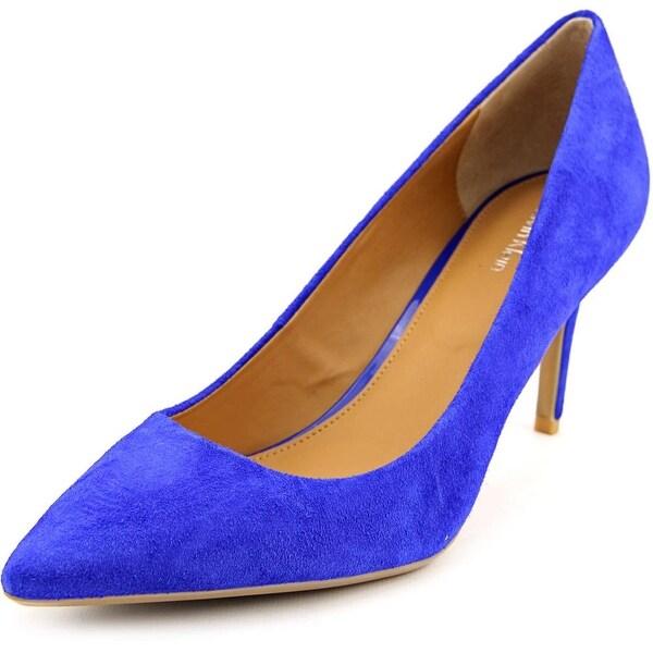 Calvin Klein Gayle  Women  Pointed Toe Suede Blue Heels