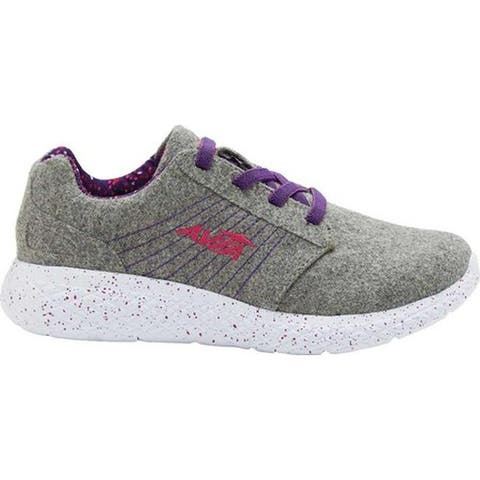 Avia Girls' AVI-Kismet Sneaker Silver Filigree/Tillandsia/Fuchsia Purple
