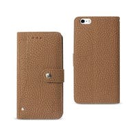 REIKO IPHONE 6 PLUS/ 6S PLUS WALLET CASE WITH SLIDE OUT POCKET AND FOLD STAND IN BROWN