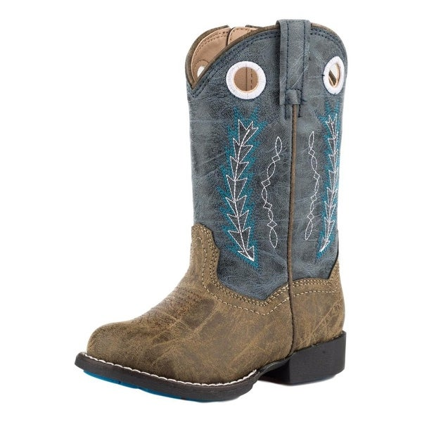 "Roper Western Boots Boys 7.5"" Shaft Hole In Wall"