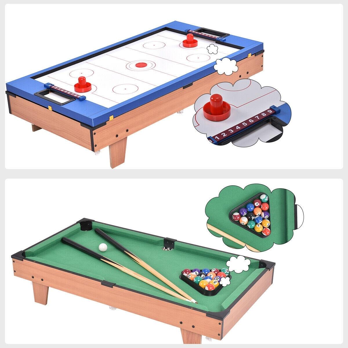 Air Hockey Table Football Folding Gaming Indoor Games Sports Pool Soccer Snooker