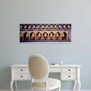 Easy Art Prints Panoramic Images's 'Prayer Wheels In A Temple, Chimi Lhakhang, Punakha, Bhutan' Premium Canvas Art