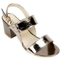 Rialto Women's Caroline Slingback Platinum Mirror Metallic Patent