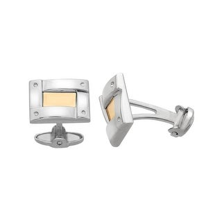 Dolan Bullock Cufflinks Sterling Silver and 14K Gold
