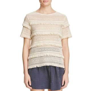 Joie Womens Blouse Knit Open Stitch