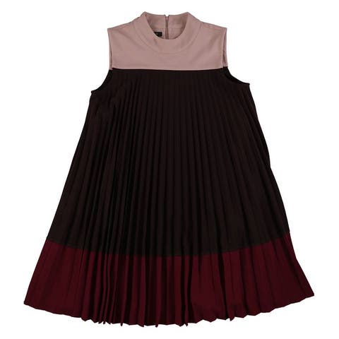 Alfani Womens Pleated Swing Dress