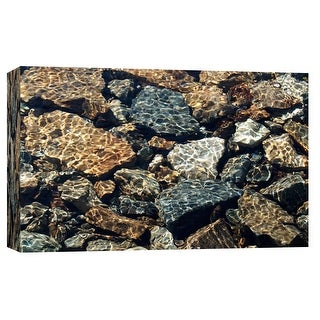 """PTM Images 9-103753  PTM Canvas Collection 8"""" x 10"""" - """"Water Rocks One"""" Giclee Waterfalls Art Print on Canvas"""