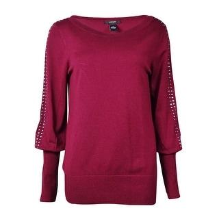 Alfani Women's Banded Hem Studded Sleeve Sweater (Option: Xs)