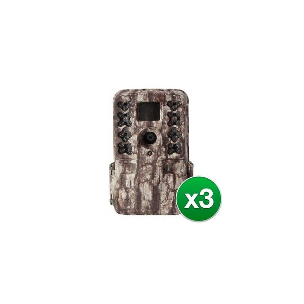 Moultrie MCG-13181 M-40 Game Camera w/ 1080p Full HD Video & 16 MP Resolution (3 Pack)