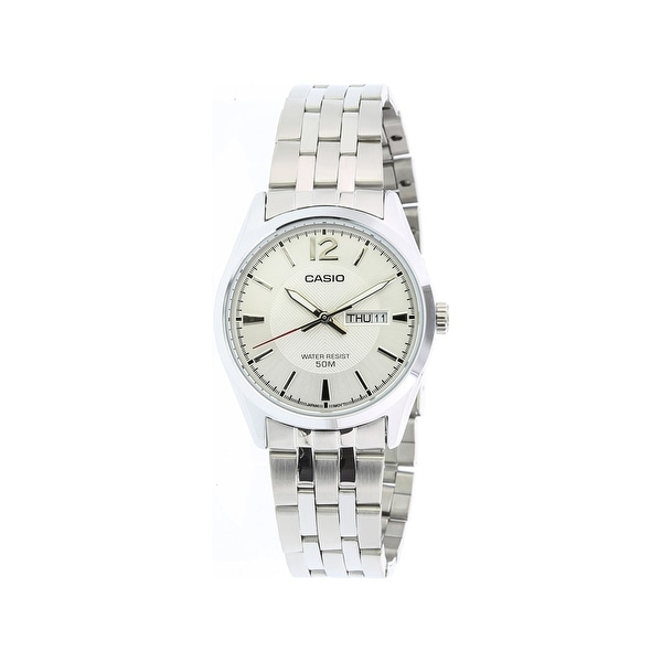 4fd0a9dc3c35 Shop Casio Men's Core MTP1335D-7AV Silver Stainless-Steel Quartz Fashion  Watch - Free Shipping On Orders Over $45 - Overstock - 28671226