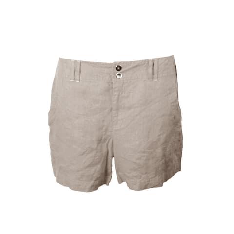 Inc International Concepts Toad Beige Linen Shorts 0