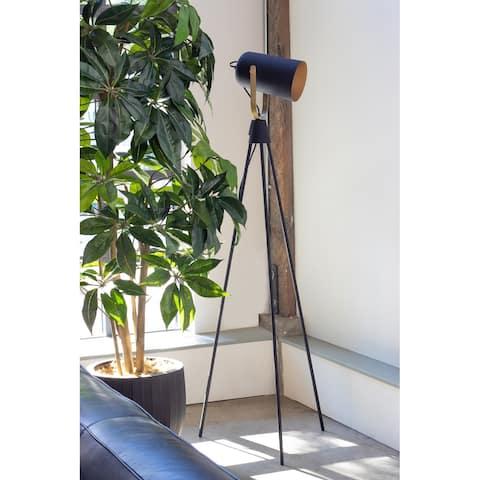 Aurelle Home Old Hollywood Industrial Floor Lamp