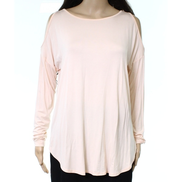 16182042672f5 Shop Bobeau Women s Medium Cold-Shoulder Hi-Low Blouse - Free Shipping On  Orders Over  45 - Overstock.com - 22313269