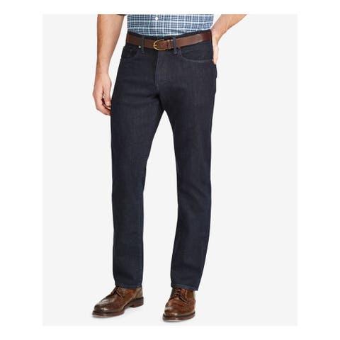 RALPH LAUREN Mens Navy Straight Leg Stretch Slim Fit Denim Jeans 38 Waist - 38 Waist