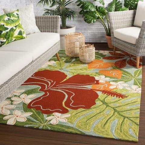 Kahiwa Indoor/ Outdoor Floral Area Rug