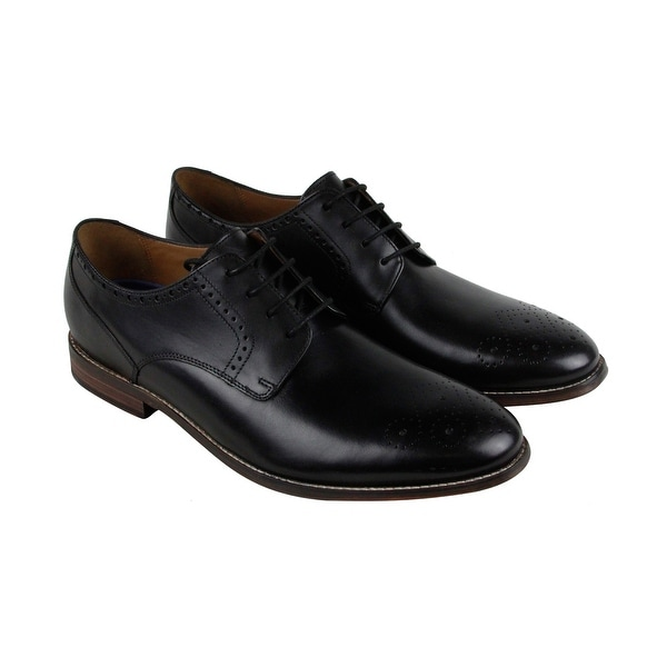 Bostonian Ensboro Plain Mens Black Leather Casual Dress Lace Up Oxfords Shoes