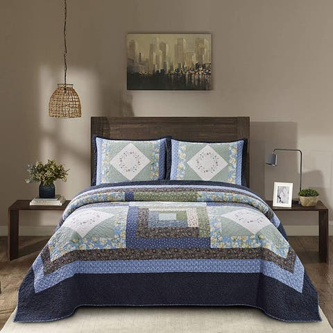 Kasentex Cotton Patchwork Quilt Set