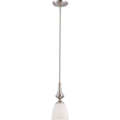 Nuvo Lighting 60/5057 Patton ES Single-Light Mini Pendant with Frosted Glass Shade