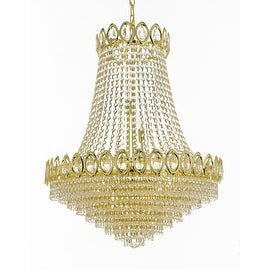 French Empire Crystal Chandelier Gold