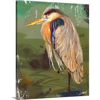 """Heron"" Canvas Wall Art"