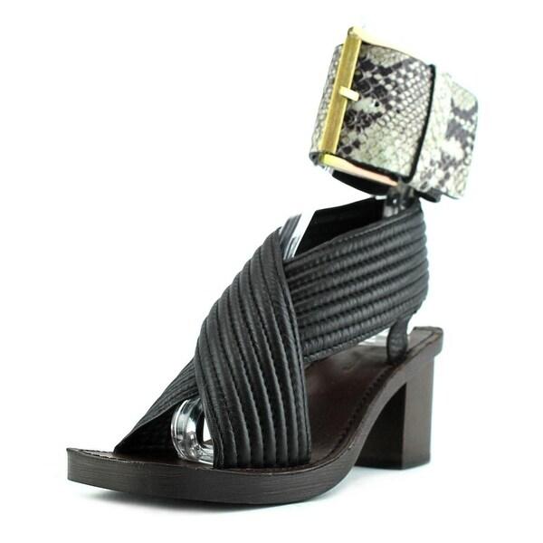 Calvin Klein Jeans Natasha Women Open Toe Leather Tan Sandals