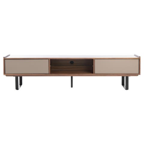 """SAFAVIEH Couture Rocky Wood 72-inch TV Stand - 72"""" W x 16"""" L x 21.6"""" H"""