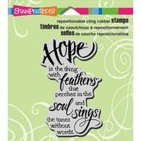 """Hope Sings - Stampendous Cling Stamp 3.5""""X4"""""""
