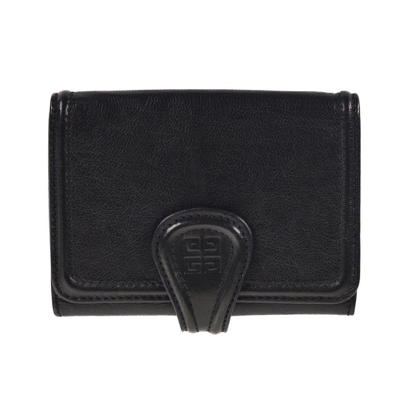Givenchy Black Textured Lamb Leather Nightingale Compact Bifold Wallet