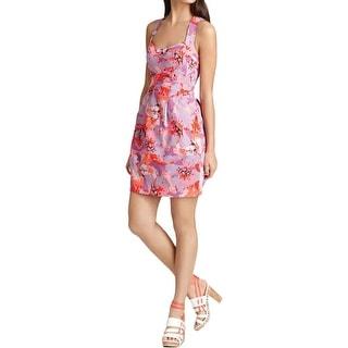 Nanette Lepore Womens Casual Dress Pique Floral Print - 10
