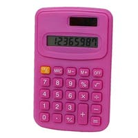 Office LCD Display Portable Small Pocket Electronic Calculator Fuchsia